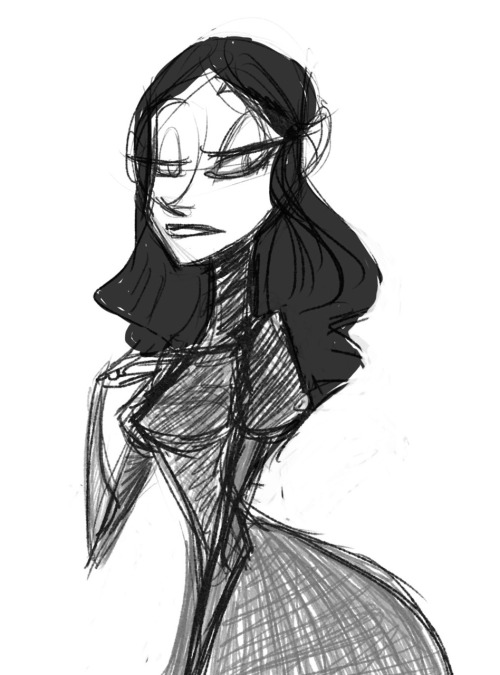 A quick sketch of Estella from Great Expectations ~ I've just finished reading it on my Kindle, all fifty-something chapters and both endings… I can see why the movies usually leave some bits out :) For some reason I picture all of Dickens' books taking place in Ankh-Morpork, go figure. I think Great Expectations would make a good Discworld novel (with a few tweaks of course…)
