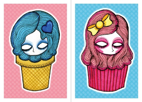 I Scream and Sweet Things now available as a print set on Etsy.