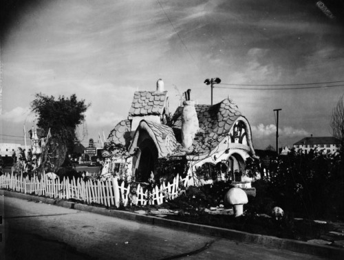 Walt Disney's Snow White and The Seven Dwarfs  house to promote the film in Burbank CA - 1937