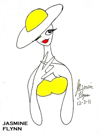 Elegant Lady in Yellow. drawn by me Jasmine Flynn :)