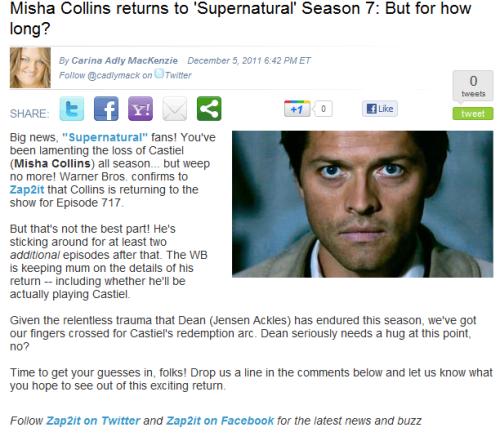thisyearsmodel:  dearkripke:  girlwithtulle:  HE IS COMING BACK HE IS COMING BACK DSAÇLADSKADSÇLKDÇLQEWKLÇADSKLADSKLADSJDASDAS  dean seriously need a hug right noow…olh god can't typei crying  REDEMPTION ARC REDEMPTION ARC REDEMPTION ARC