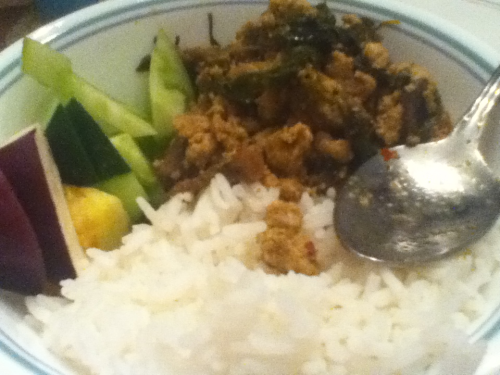 Came home to some prahok with some veggies! :) its like chips and dip for me lol