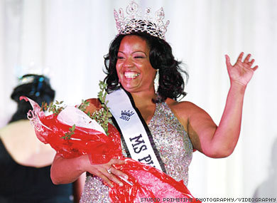 "Ms (HIV) Plus America  The Advocate reports:  The Ms. Plus America pageant celebrates plus-size women as beautiful contributors to society, and its newest winner is an HIV-positive woman who is taking that message of female unity even further.""I am hoping that by sharing that we can tear down the walls of being stigmatized,"" says Michelle Anderson, who was crowned Ms. Plus America 2011 and plans to use her title to cross boundaries between women who are HIV-positive and those who aren't. The crown sits on her mantel, but it has given Anderson access to tell her story in ""rooms that I couldn't go in just being HIV-positive.""Anderson, who works to help women and girls learn about HIV prevention, is a lead peer educator and programs assistant at the Afiya Center for HIV Prevention and Sexual Reproductive Justice in Dallas. The new Ms. Plus America, who has been positive since 1999, remembers first feeling the stigma that comes with the disease — an experience she hopes to help others avoid by telling her story to as many people as will listen.""When I was first diagnosed, I was in a treatment facility, and this might be gross to you, but women go through their thing monthly and someone apparently had dropped some blood on the toilet seat,"" she remembers. ""Guess who you think they made go clean it up? Me.""Anderson remembers saying, ""That's not mine."" But it didn't matter. ""To be cautious, they asked me to do it. What was that about? That really made me feel low and worthless.""The memory of moments like that motivated her to carry on whenever she felt like giving up the pageant work — the group dance numbers to learn and the interviews to prepare for. A friend spoke up and reminded her, ""You can't quit, because every time you walk across this stage, you are walking across the stage for every HIV-positive woman who can't say that they're positive."""