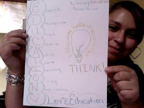 occupyedu:  I Occupy Education because I think! Engaged Development Unique Creative Active Talent Interesting Occupy Nonviolence Love Education!
