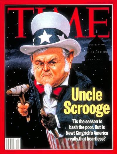dcdecoder:  peterfeld:  Time, 1994  In which we remember that Newt Gingrich has been in Washington politics for a long, long time.  Oh Newt, you don't look a day over 47.