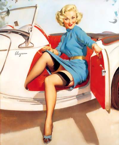 "vintagegal:  ""Let's Go"" by Gil Elvgren 1957"