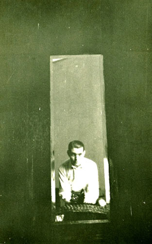 Julio Cortázar, Self-Portrait in the mirror, Buenos Aires, 1947