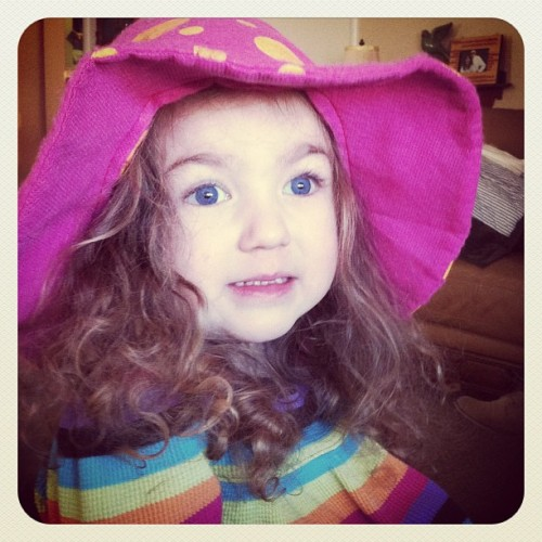 My one and only girl rocking her hippie hat!  (Taken with instagram)