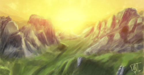Ma first digital matte painting. Did it with ma latest wacom tablet! :D