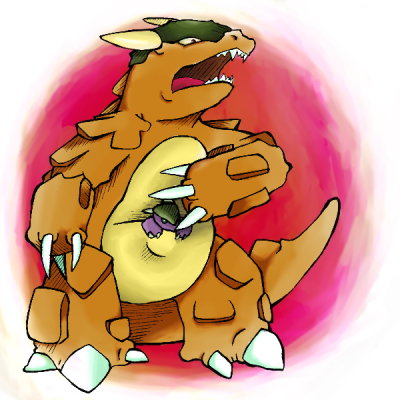 staurikos:  Pokeddex Challenge, a bit late. Day 1 - Normal type Kangaskhan  A bit late? :D LOL