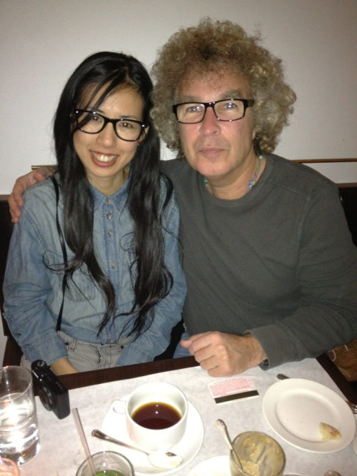 Me with Eri Chan at dinner in downtown L.A. this evening!  iPhone photo by brad Elterman
