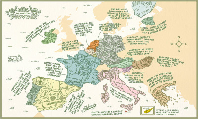 Andrew Rae's Eurozone map via Strange Maps