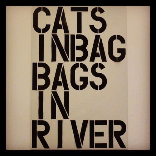 MoMA: Cats In Bag… (Taken with instagram)