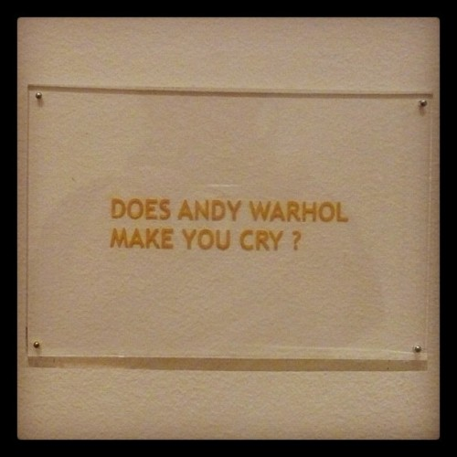 MoMA: Does Andy Warhol Make You Cry? (Taken with instagram)