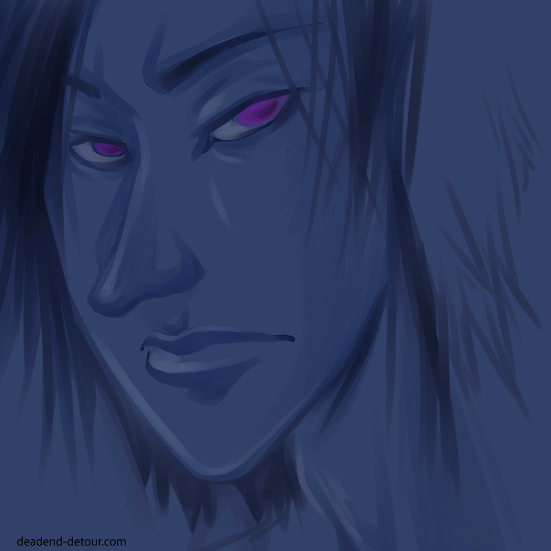 Painty sketch face. — Kiri