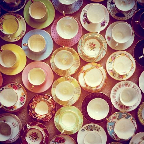 Teacups everywhere! What fun :) AGWT