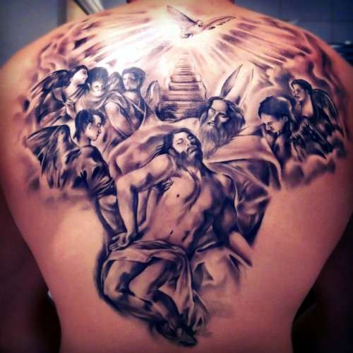 fuckyeahtattoos:  Inspired by 16th century art & led zeppelin. Put onto human canvas by the talented Emils @ Renaissance-tattoo.co.uk