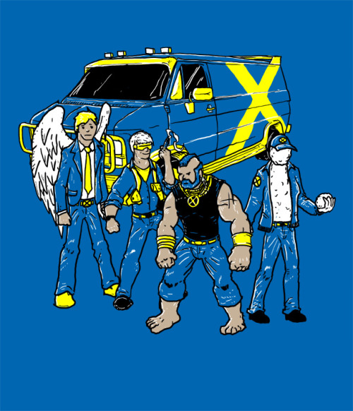 inside-joke:  the X-Team A mash-up tween the A Team and the original X Men. please vote for this at threadless