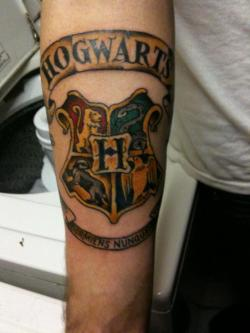 fuckyeahtattoos:  Part one of my Harry Potter sleeve.