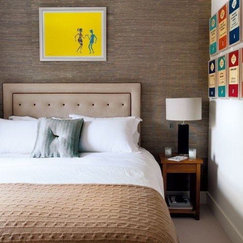 justasillylittlemoment:  I love the framed Penguin Classic covers on the wall. I want that.
