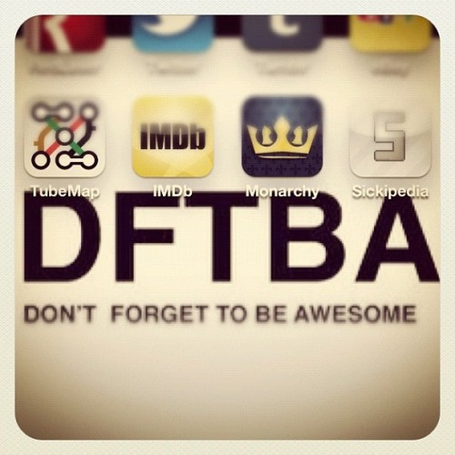 It provides my background…#dftba #nerdfighter  (Taken with instagram)