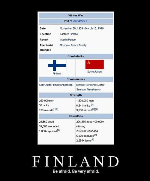 "Finland is a BAWSE!!!! grohac:  wemporium:  Happy Independence Day Finland. ""We will not go quietly into the  night!"" We will not vanish without a fight! We're going to live on!  We're going to survive! Today we celebrate our Independence Day! ""- President Thomas Whitmore, ID 4  Man, Finland did FINE. I submit to you Simo Häyhä"
