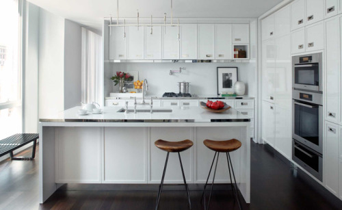 I love an all white kitchen.