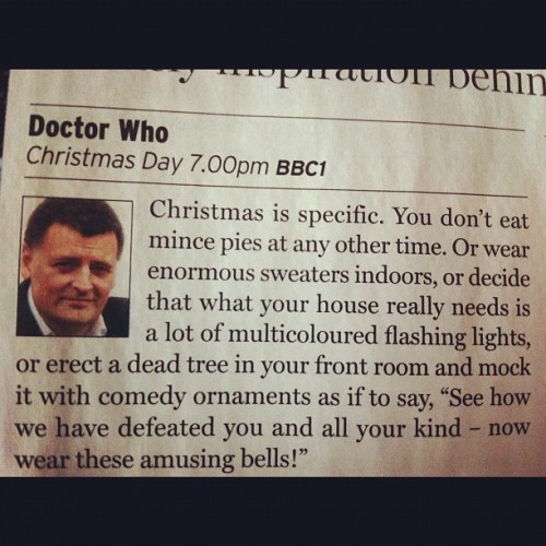 applemccharmly:  This is the best Christmas article ever. #The real reason Christmas trees turned killer in Doctor Who