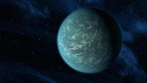"npr:  Scientists have discovered a planet not too much bigger than Earth that's circling a distant star that's much like our own sun. What's more, this planet is in the ""Goldilocks zone"" around that star — a region that's not too hot and not too cold. That's the kind of place that could be home to liquid water and maybe even life. The planet, known as Kepler-22b, is the first near-Earth-sized planet to be found smack dab in the middle of the habitable zone of a twin to our Sun. The planet is about 2 1/2 times the size of the Earth. It orbits a little closer to its star than our planet does to our sun, and goes around once every 290 days compared with our 365. But its star is a bit cooler than our sun, says William Borucki of NASA Ames Research Center, who heads NASA's Kepler space telescope mission, which detected this planet. ""That means that that planet, Kepler-22b, has a rather similar temperature to that of the Earth,"" Borucki says. ""Its surface temperature would be something like 72 Fahrenheit."" It's not yet clear what kind of surface the planet might have — researchers don't know if the planet is made mostly of rock or water or something else. And don't expect astronauts to climb on a rocket and go there anytime soon. ""The star is some 600 light-years away,"" says Borucki, ""so it's not terribly far away, but not terribly close either."" Read the full story"