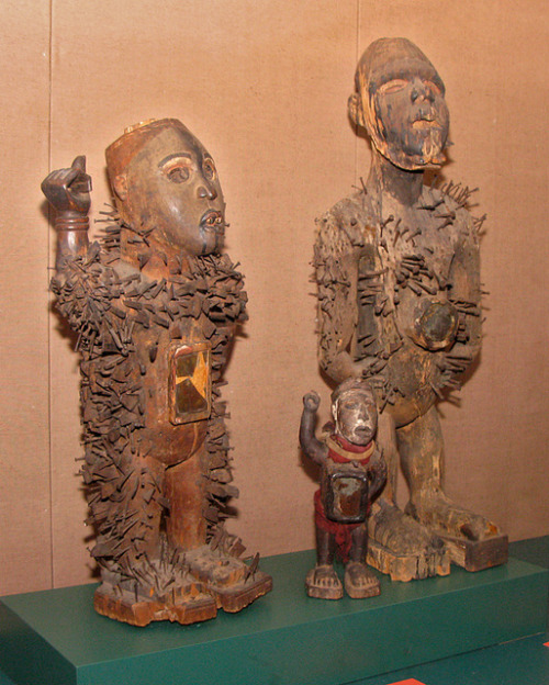 Meet the Nkisi Nkondi. These sacred items were carved by the people of the Congo, and used for protecting the village, fighting evil spirits, settling disputes, and sealing agreements. Read more.