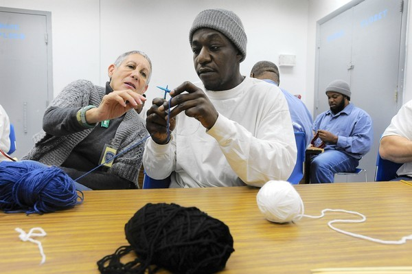 Knitting Behind Bars, Retiree Teaches Male Inmates How to Knit