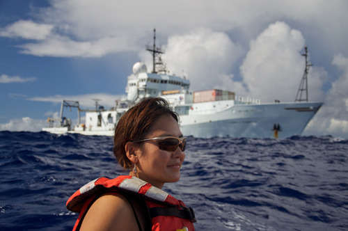 Oceanographer Masako Tominaga will be joining the faculty of the MSU Dept. of Geological Sciences in 2012. Read more about the marine geophysicist currently finishing her postdoctoral research at Woods Hole Oceanographic Institution.   Photo by William C. Koeppen.