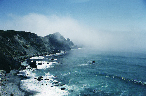tel0s:  Big Sur and Fog (by Terry Foote)