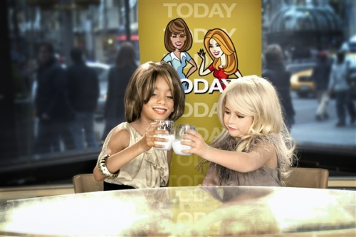 today:  Anchors and their mini-mes! Kids recreate iconic TODAY pics 'lil Kathie Lee and Hoda — getting their day drinking on.