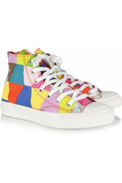 these shoes were made for walking get a pair of colorful chucks at net-a-porter