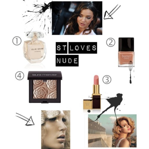 Sister Thursday- Nudes by jessicagry on polyvore.comTom Ford Beauty Ultra Shine Lip Gloss, Tawny Pink, $45ELIE SAAB Le Parfum (Edp, 90ml), £72butter LONDON Nail Lacquer - Various Colors Available - Nail Polish -…, $15