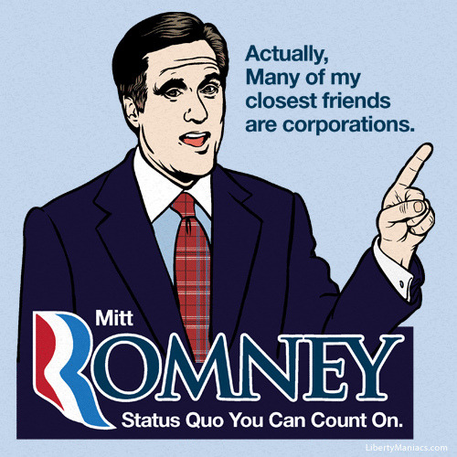 Corporate Friends of Romney by LibertyManiacs on Flickr.A través de Flickr: What are friends for?
