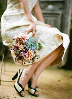Love the bouquet, shoes and dress…