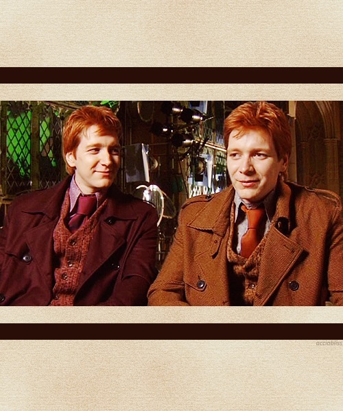 acciobliss:  30 days of James and Oliver Phelps // Day 016. Favourite 'red hair' photo screencap from On the green with Rupert, Tom, James and Oliver