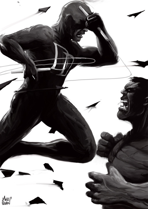 Daredevil Vs The Hulk.