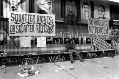 fuckyeahanarchistbanners:  Squatter Rights or Squatters Riots && No Housing; No Peace