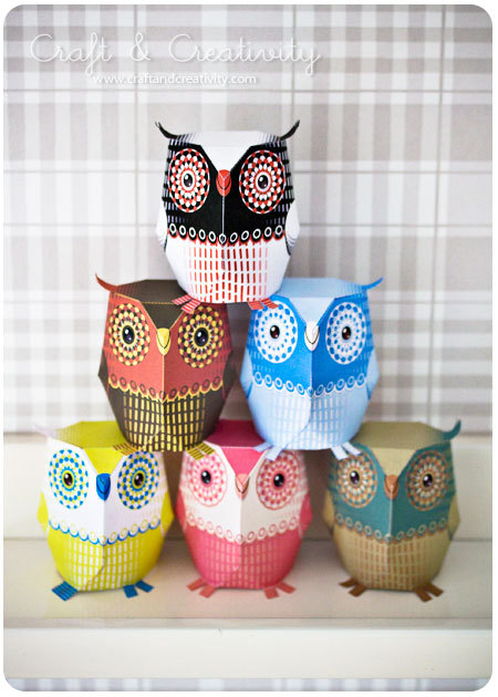 prettylittlepieces:  Paper Owls Free pattern downloads