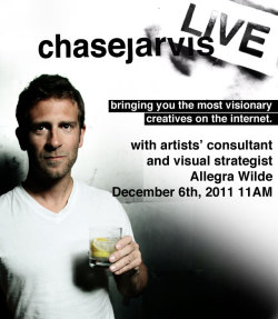 Tune-in now for #CJLive with Chase Jarvis & Allegra Wilde as they discuss photo protfolio's, visual strategy & a special appearance by the new Polaroid Z340 Instant Digital Camera