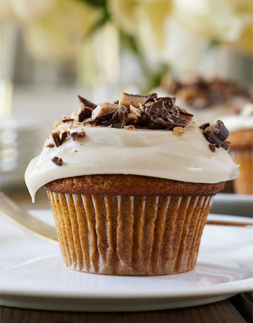 Oh my….Pumpkin Cupcakes with Maple Frosting from The Barefoot Contessa