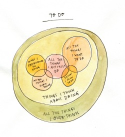 curiositycounts:  This Venn diagram to-do list by illustrator extraordinaire Wendy MacNaughton, of Circles of Influence fame, says it all.