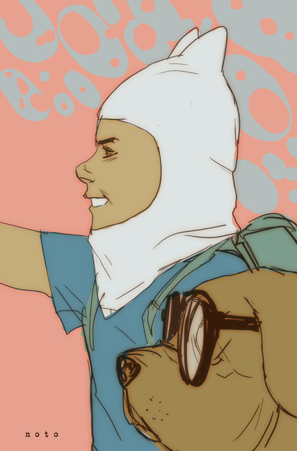 randomasdey:  philnoto:  Finn and Jake!  *speechless* ♥