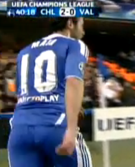 extended shot of juan mata's wedgie