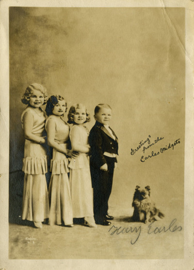 The Doll family who stared in Tod Browning's 1932 'Freaks'.A German family of dwarfs.