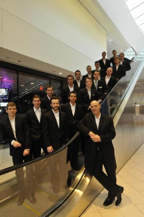 Team Spidertech for 2012. On an escalator.  (via Gallery: Behind The Scenes With Team Spidertech | Cyclingnews.com)