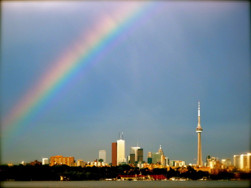 Dear TORONTO, i took this picture of you during our summer romance of 2009. i miss you. xo ps- that rainbow is real.